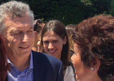 Mauricio Macri y Delia Flores PIOD Olivos