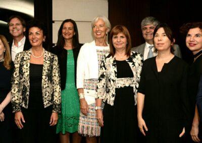 Cena  con Christine Lagarde