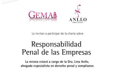 """Charla sobre """"Responsabilidad Penal de las Empresas"""""""